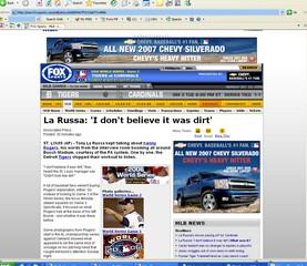 FOX Sports - MLB - La Russa: 'I don't believe it was dirt