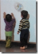 Doodles and Tutus chasing bubbles