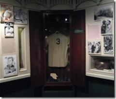 Babe Ruth Display at the National Baseball Hall of Fame