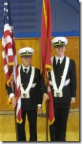 Chris was one of the color guard